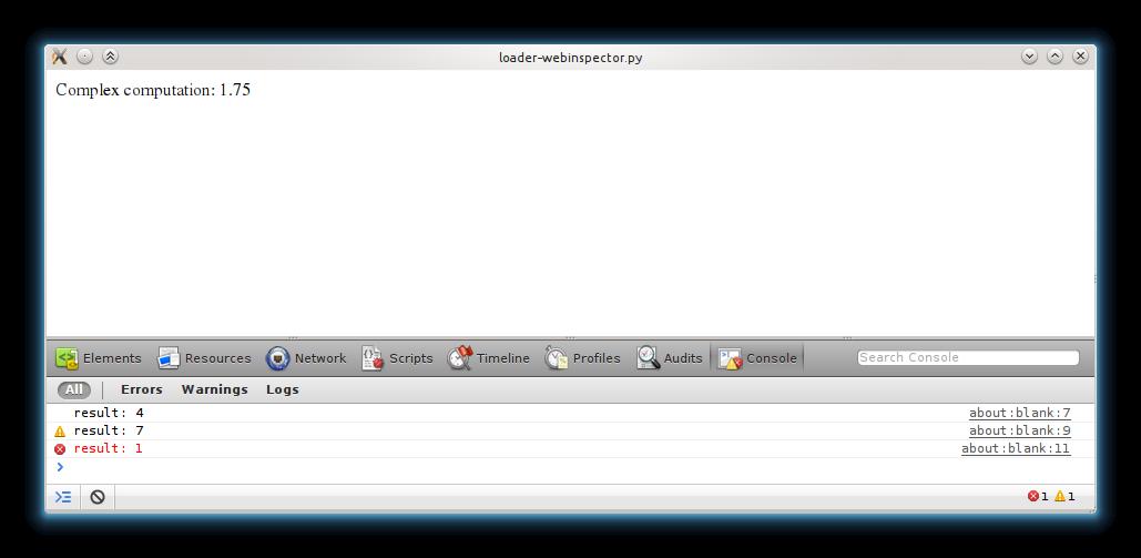 PyQt+WebKit experiments part 2: debugging   agateau com