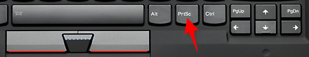"What is the ""Print Screen"" key doing there?!"