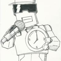Clock. Flabot-Flav, from Robot Enemy :)