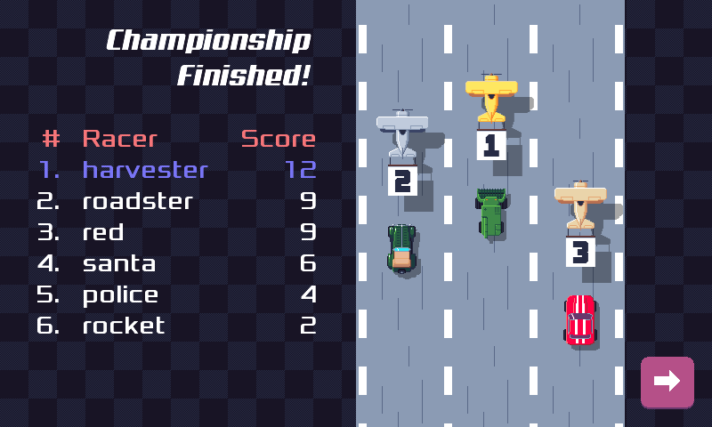 Harvester reached the first place!